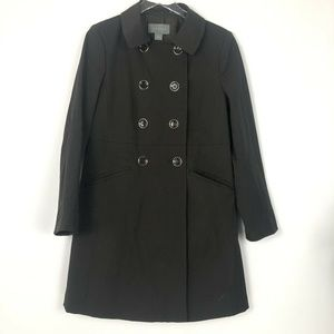 Ann Taylor Brown Double Breasted Trench Coat